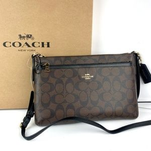 Coach East West Pop Up Pouch Leather Crossbody